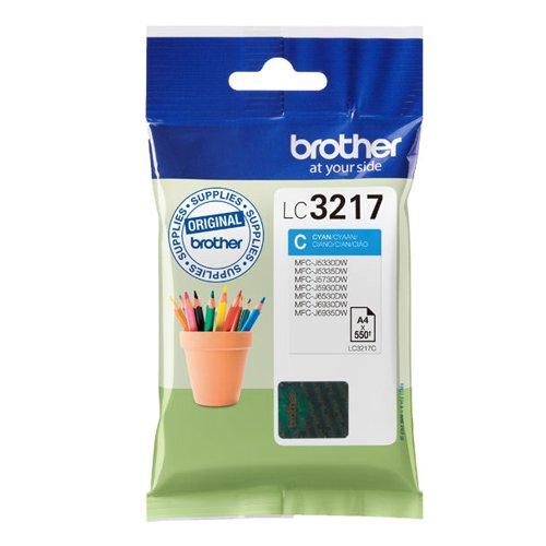 Brother Cyan Standard Yield Inkjet Cartridge LC3217C