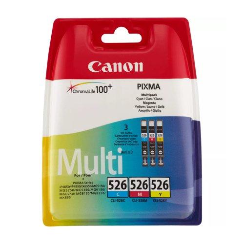 Canon No.526 Inkjet Cartridge Cyan/Magenta/Yellow Value Pack CLI-526 4541B006