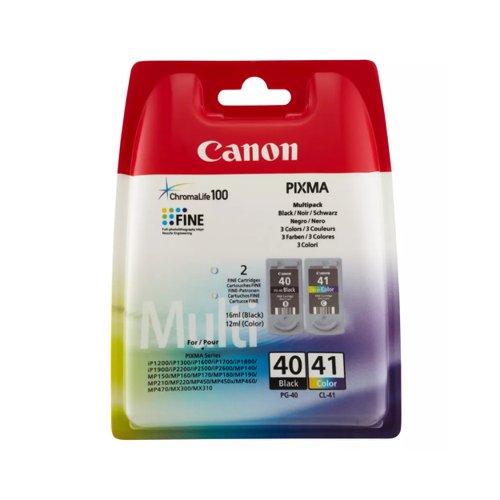 Canon No.40/No.41 Inkjet Cartridge Black/Colour Twinpack PG-40/CL-41 0615B036
