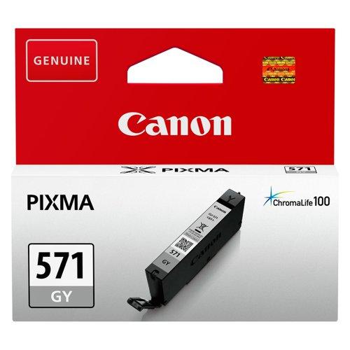 Canon No.571 Inkjet Cartridge Grey CLI-571GY 0389C001