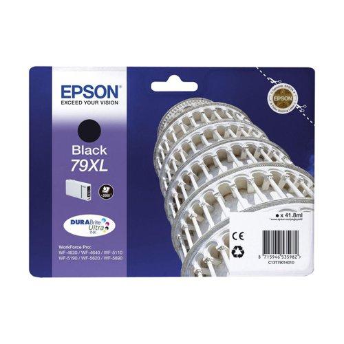 Epson No.79XL Tower of Pisa Inkjet Cartridge High Capacity Black T79014010