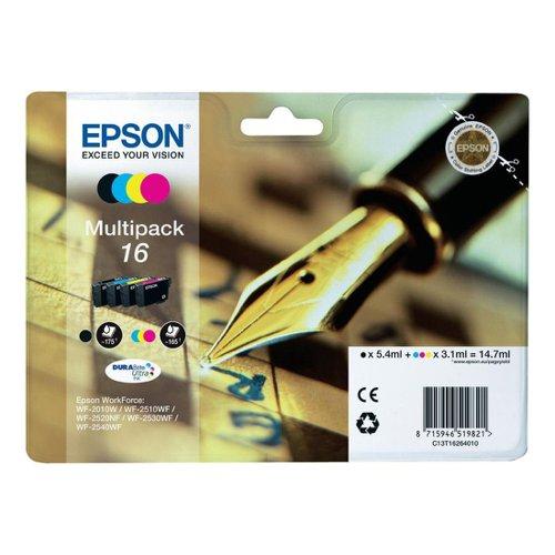 Epson No.16 Crossword Inkjet Cartridge Black/Cyan/Magenta/Yellow Value Pack T16264010