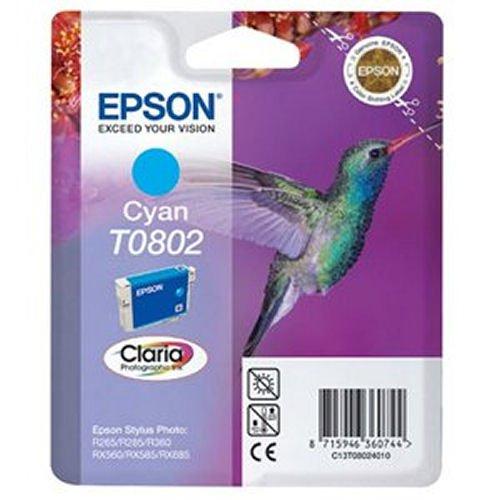 Epson T0802 Hummingbird Inkjet Cartridge Cyan T080240