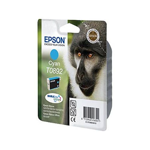 Epson T0892 Monkey Inkjet Cartridge Cyan T08924010
