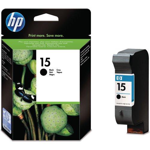 HP No.15 Inkjet Cartridge High Capacity Black 25ml C6615DE