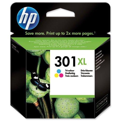 HP No.301XL Inkjet Cartridge High Capacity Tri-Colour CH564EE