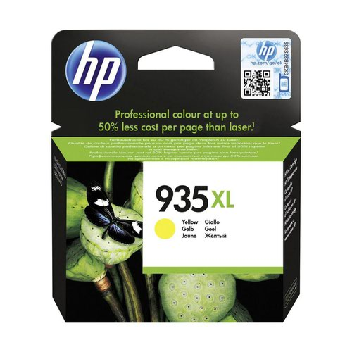 HP No.935XL Inkjet Cartridge High Capacity Yellow C2P26AE