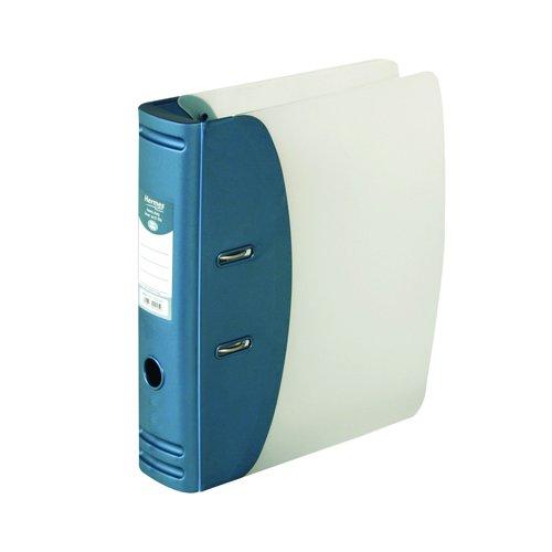 Hermes Heavy Duty Lever Arch File 80mm A4 Metallic Blue 832007