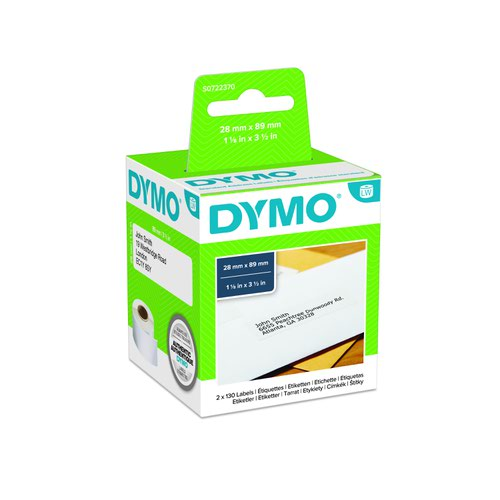 DYMO LabelWriter Standard Address Labels 28x89mm White 99010 S0722370