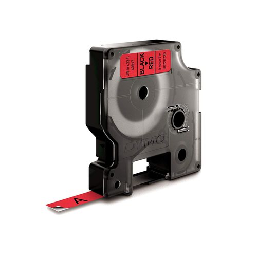DYMO D1 Label Tape 9mm Black on Red 40917 S0720720