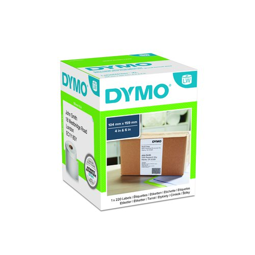 DYMO LabelWriter 4XL Labels 104x159mm White S0904980
