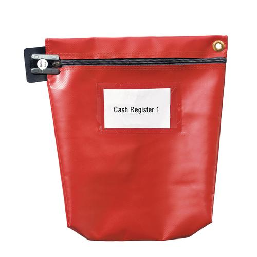 Value Cash Bag Small 152x178x50mm Red