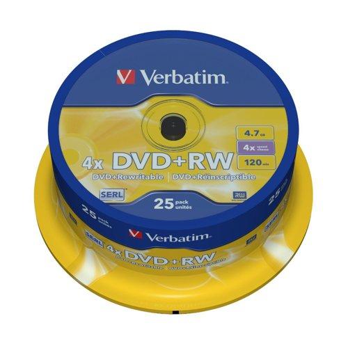 Verbatim DVD+RW Spindle (10) 43488