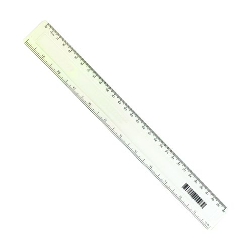 Value Plastic Ruler 300mm Clear