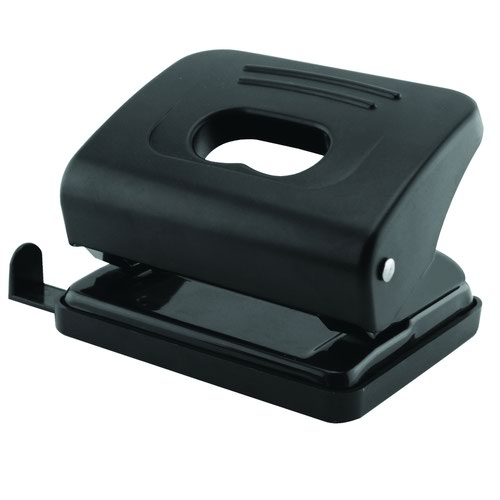 Value Two Hole Punch 30sheet Metal Black