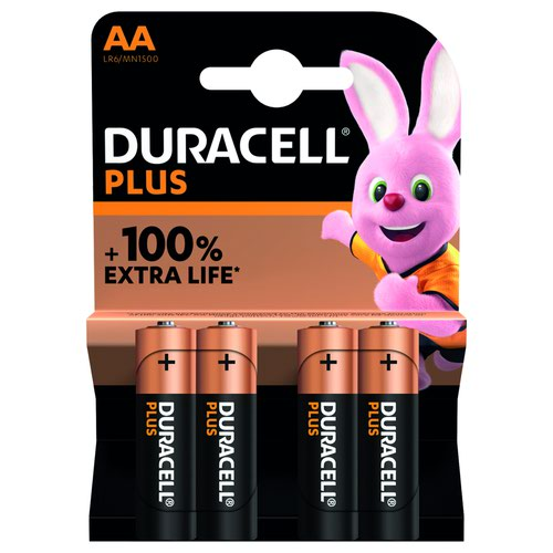 Duracell Plus Power Battery AA (4) 81275375