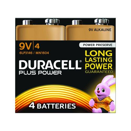 Duracell Plus Power Battery 9v (4) 81275463