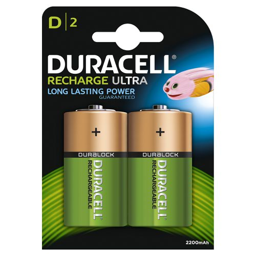 Duracell Rechargeable Battery D (2) 81364737