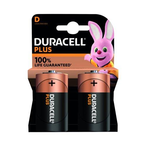 Duracell Plus Power Battery D (2) 81275443