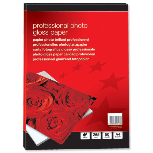 Value Instant Dry Photo Gloss Paper A4 265gsm (50)