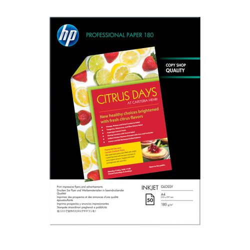 HP Professional Glossy Inkjet Paper A4 (50) C6818A