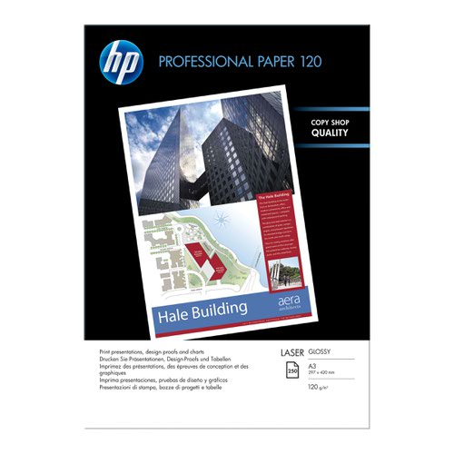 HP Professional Laser Glossy Paper A3 120gsm (250) CG969A