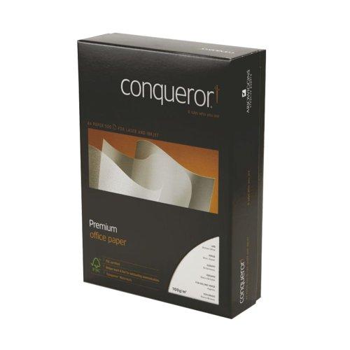 Conqueror Texture Paper A4 Brilliant White Laid 100gsm (500) 20260