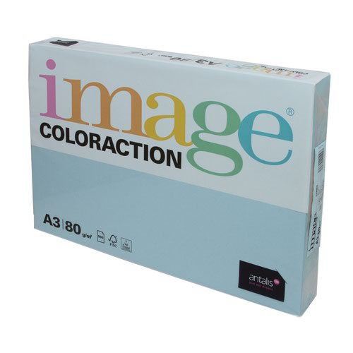 Image Coloraction Tinted Paper A3 80gsm Pale Icy Blue Iceberg (500) 89631
