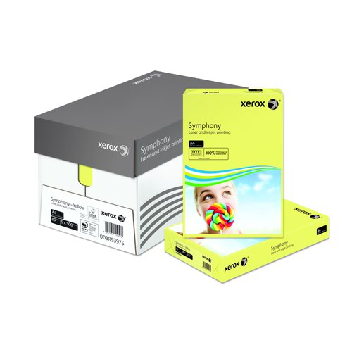 Xerox Symphony Pastel Paper A4 80gsm Yellow (500) 003R93975
