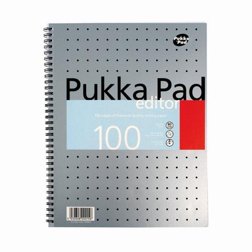 Pukka Pad Editor Metallic Pad A4 100pages EM003