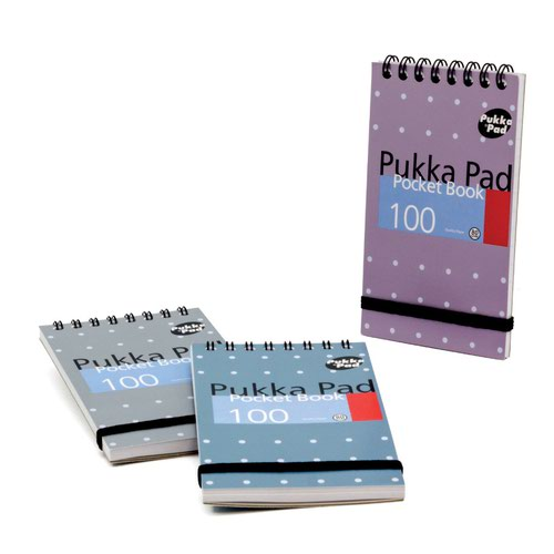 Pukka Pad Pocket Book Metallic Pad 76x127mm 100pages 6254-MET