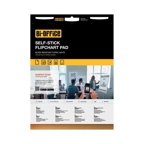 Bi-Office Self-Stick Flipchart Pads 30sheets (2) FL128107