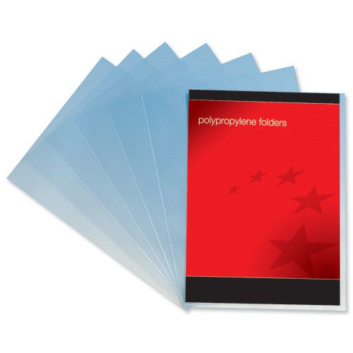 Value Plastic Cut Flush Folders A4 Clear (100)