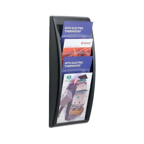 Fastpaper Easy Display System Wall Pocket A4 Black 4061.01