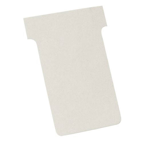 Nobo T-Cards A50 Size 2 White (100) 2002002