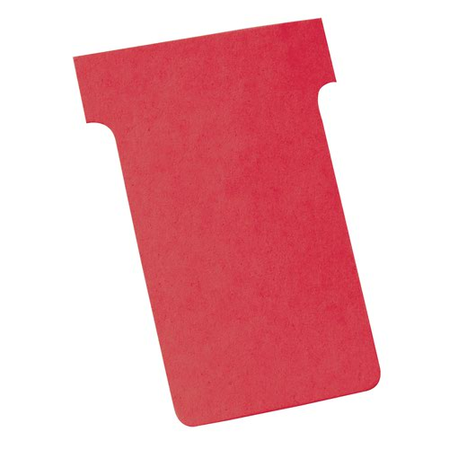 Nobo T-Cards A80 Size 3 Red (100) 2003003