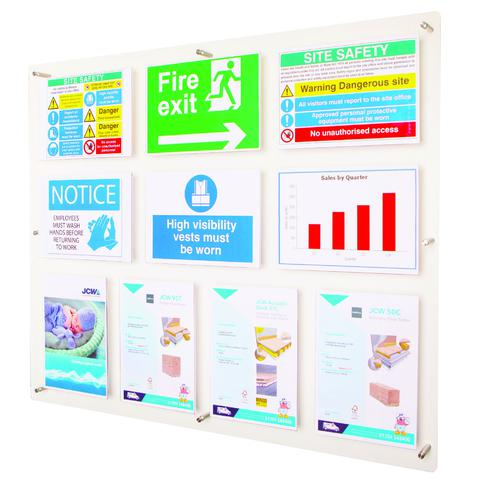 Adboards Clear View Acrylic Display 1051x877mm DACV-10A4-79