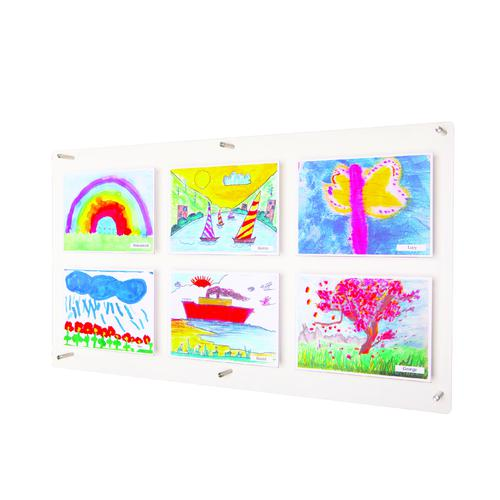 Adboards Clear View Acrylic Display 1051x580mm DACV-6A4L-79