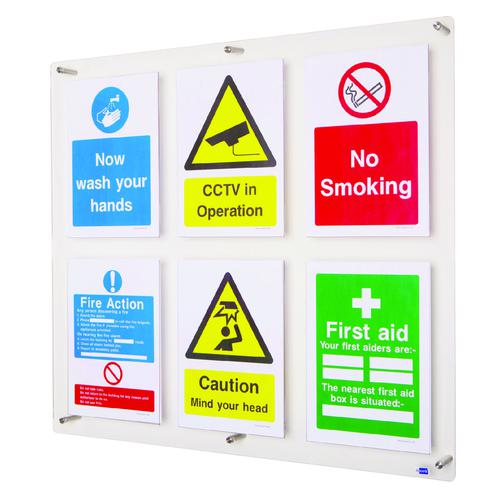 Adboards Clear View Acrylic Display 790x715mm DACV-6A4P-79