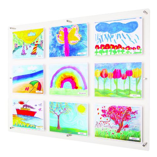Adboards Clear View Acrylic Display 1051x790mm DACV-9A4L-79
