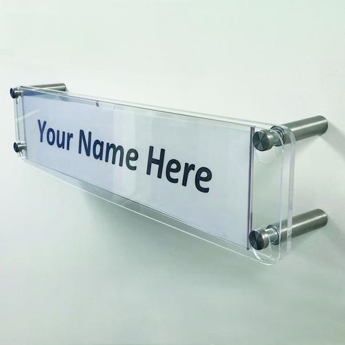 Adboards Clear View Acrylic Name Plate 350x80mm DACV-NAME-79