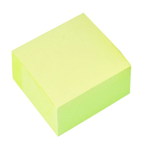 Value Repositionable Notes Cube 75x75mm Yellow
