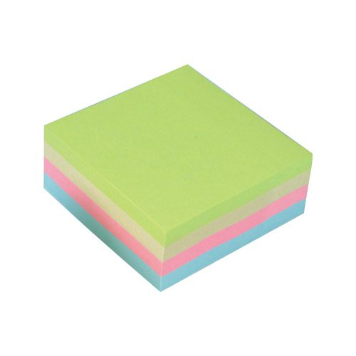 Value Repositionable Notes Cube 75x75mm Pastel