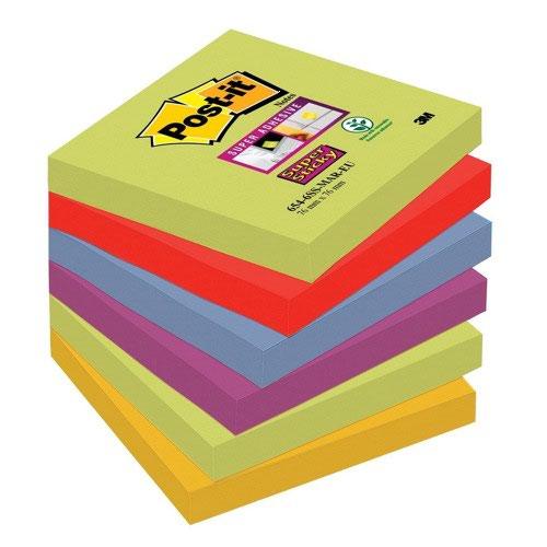 3M Post-it Super Sticky Colour Notes 76x76mm Marrakesh (6) 654-6SS-MAR-EU