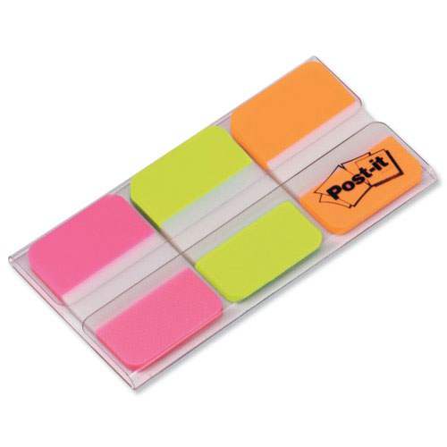 3M Post-it Strong Index Tabs 25mm Pink/Green/Orange (66) 686-PGO