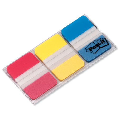 3M Post-it Strong Index Tabs 25mm Red/Yellow/Blue (66) 686-RYB