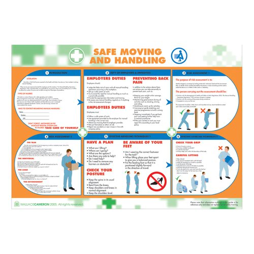 Wallace Cameron Safe Moving And Handling Poster 420x594mm 5405051