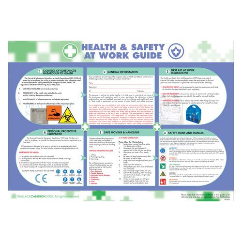 Wallace Health/Safety At Work 590X420mm