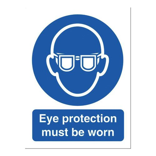 Eye Protection Sign 150x200mm Self Adhesive Vinyl