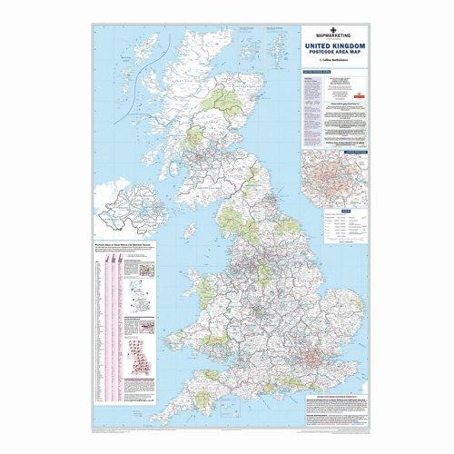 Map Marketing British Isles Postal Area Map BIPA